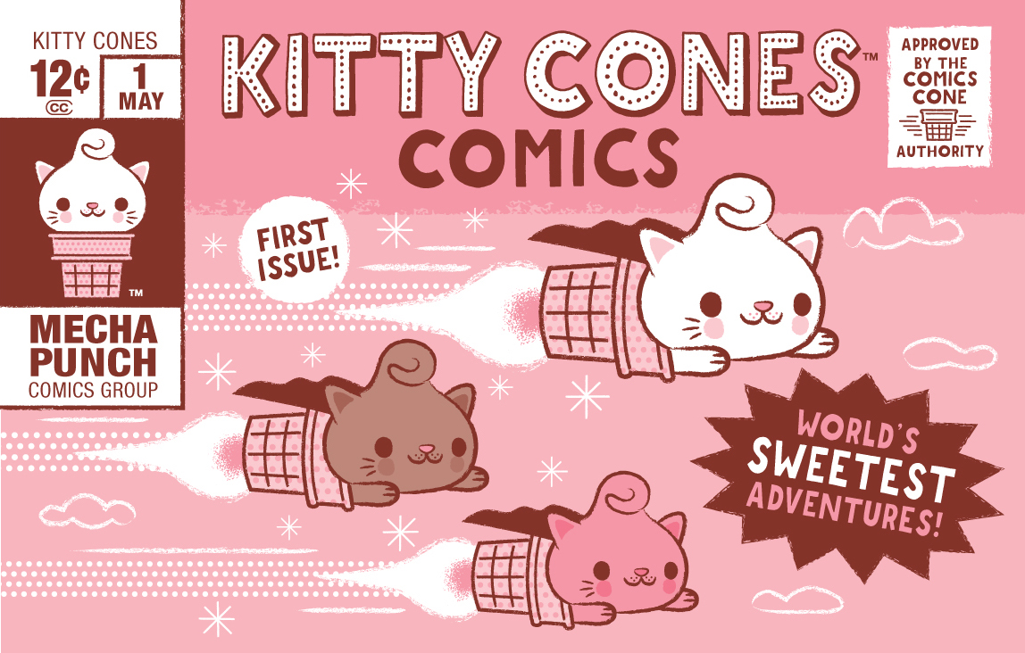 Kitty Cones Comic Strips Cover
