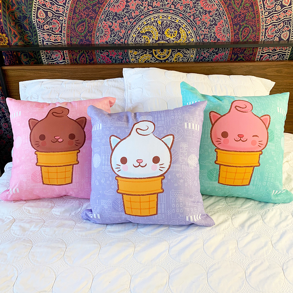 Kitty Cones Pillows
